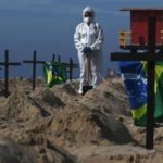 Bolsonaro supporter desecrates Brazil beach memorial for 40,000 coronavirus victims