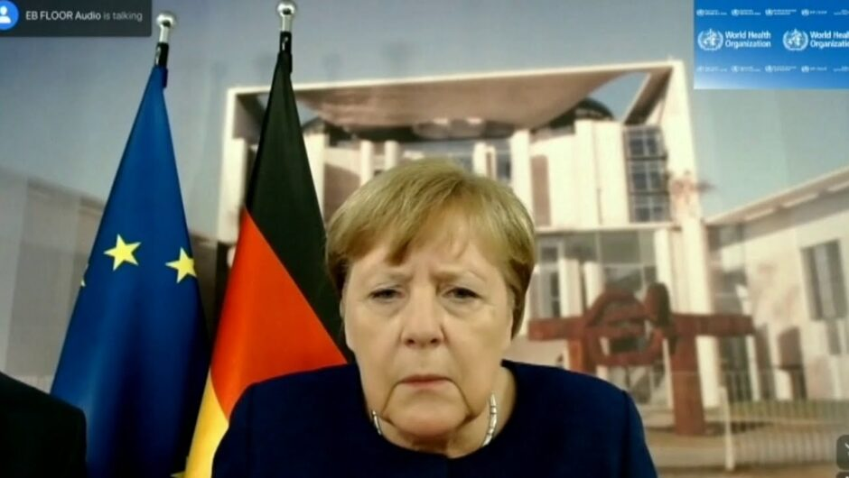 'Can you hear me now?' Angela Merkel faces technical difficulties during a video conference