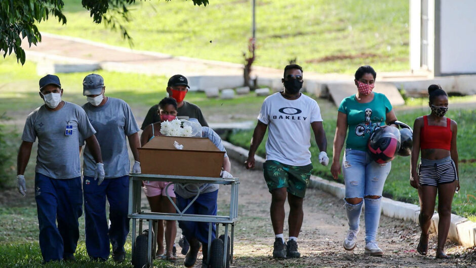 COVID-19 deaths in Brazil on track to pass worst of US wave